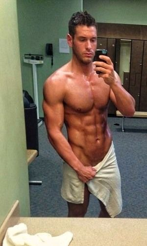 Sexy men nude at the gym 8