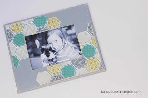 Paper Hexagon Picture Frame