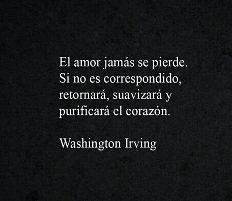 Washington Irving Amor Libros Y Frases