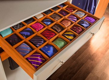 How to Organize Men's Ties | Organizing, Kitchen drawer dividers and  Organizations