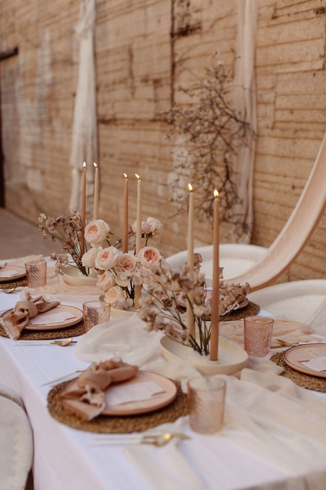 Elegant ethereal Arizona wedding at The Ice House in Phoenix. Full design and styling by MaeCo Creative a west coast wedding planner. Photography by From the Daisies. Ethereal Wedding, Boho Wedding, Floral Wedding, Rustic Wedding, Dream Wedding, Wedding Day, Neutral Wedding Decor, Wedding Flowers, Wedding Designs