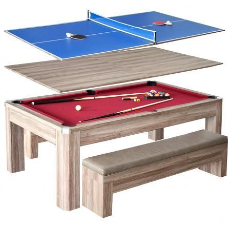 Newport 7 Ft Pool Table Combo Set W Benches Pool Table Multi