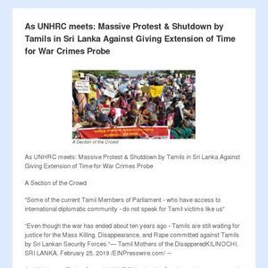 As Unhrc Meets Massive Protest Shutdown By Tamils In Sri Lanka Against Giving Extension Of Time For War Crimes Probe War Crime Human Rights Council Probe