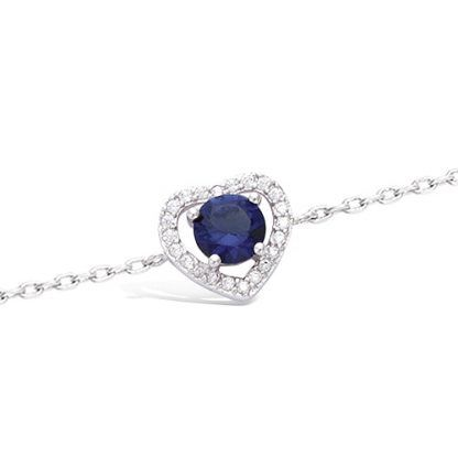 bracelet femme coeur bleu