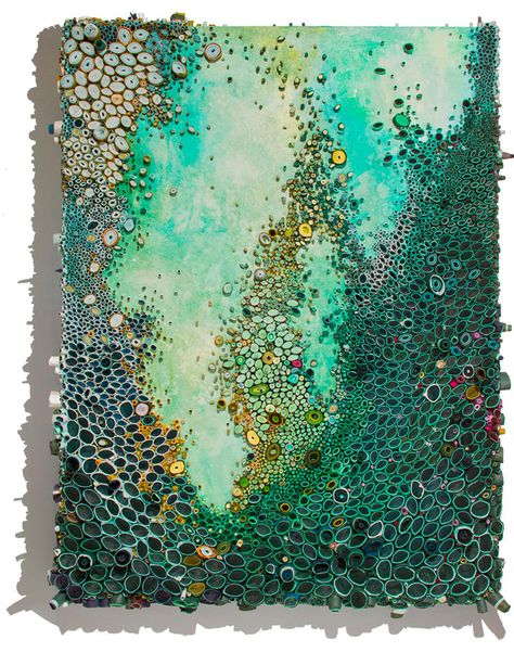 Amy Eisenfeld Genser Reef-3 This artist works with acrylic and paper - but what a wonderful idea for polymer clay!