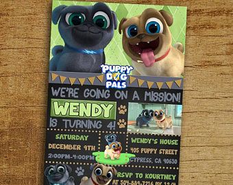 Puppy Dog Pals Birthday Invitation Puppy Dog Pals Invitation Digital Printable Puppy Dog Pals B Baby Boy 1st Birthday 1st Boy Birthday Toddler Birthday Party