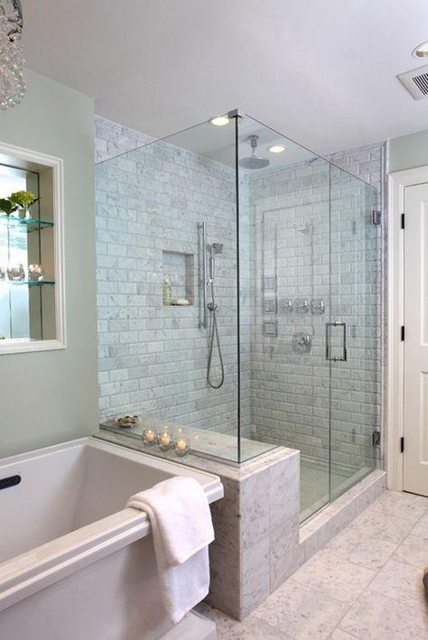 Create A Feeling Of Bathroom E Floor To Ceiling Shower Tile