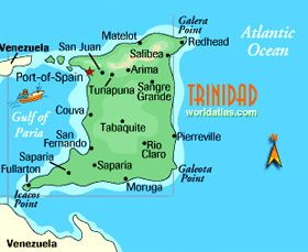 Anna Simmons Trinidad Map Travel Art and Culture Pinterest