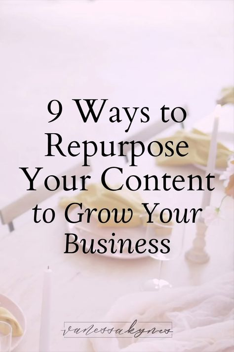 Join me with Davey of daveyandkrista.com as we discuss 9 ways to repurpose your content so that you never run out of ways to market your business.