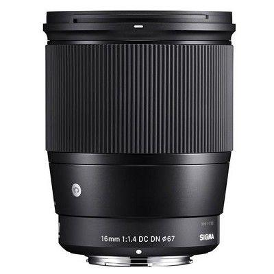 Sigma 16mm F 1 4 Dc Dn Contemporary Lens For Sony E Mount Cameras Black Sony E Mount Wide Angle Lens Focus Camera