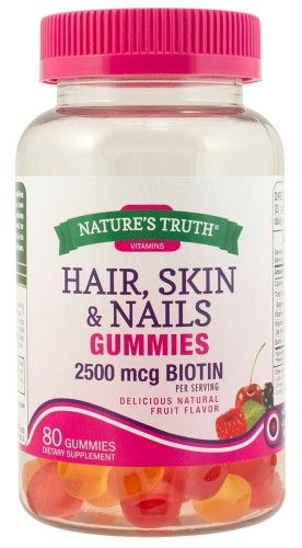 Nature S Truth Hair Skin Nails Gummies 2500 Mcg Biotin Fruit