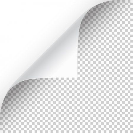 Curled Page Corner With Shadow On Transparent Background Blank