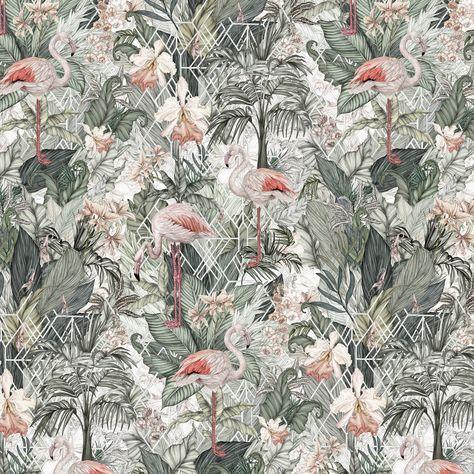 Flamingo Wallpaper - Roll