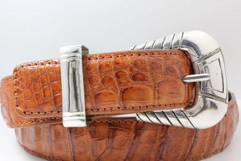 Handmade Sterling Silver (.925) Belt Buckle Set (Fits 1.25
