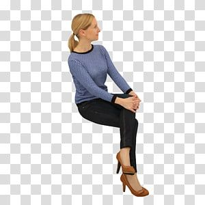 Woman Sitting With Her Hands On Her Knee Sitting Woman Chair Standing Sitting Man Transparent Background Png Clipart People Png People Sitting Png Women