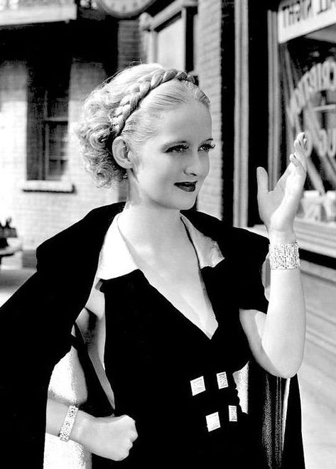 Young Bette Davis with Braids! -  A cute pic of a young Bette Davis with an adorable braid.  For more info and pics about Bette, and  - #AngelinaJolie #bette #braids #CelebrityStyle #davis #HollywoodActresses #young