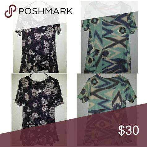 Two Lularoe Perfect T's Small Two Lularoe Perfect T's size Small in Excellent condition. Washed inside out, cold delicate with free & clear detergent, and hang dried. Smoke/Pet free home. LuLaRoe Tops Tees - Short Sleeve