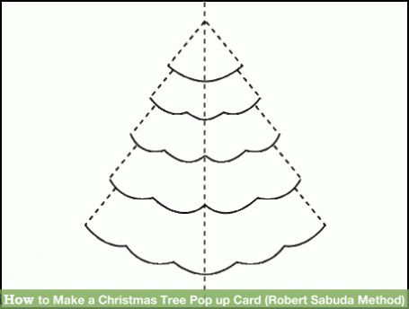 Pop Up Tree Card Template In 2021 Christmas Card Template Christmas Tree Cards 3d Christmas Tree Card