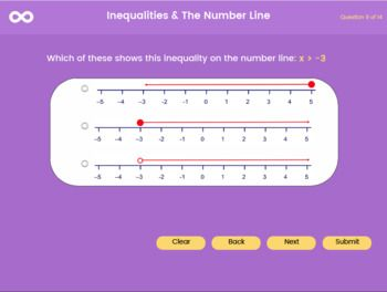 Inequalities The Number Line 9th Grade 10th Grade Uk Gcse 1 9 Number Line 10th Grade Gcse Math