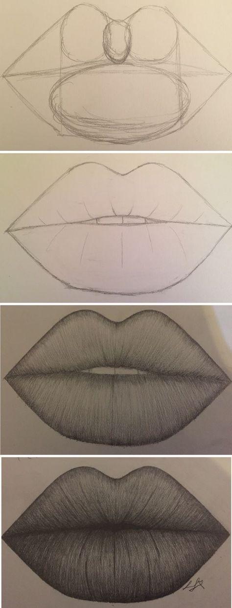 comment dessiner les lèvres ne gâche pas s'il te plaît