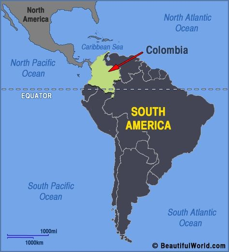 Map Of Columbia South America colombia south america map ...