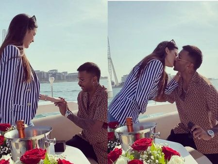 Hardik Pandya Proposed His Girlfriend For Marriage In The Sea See This Cute Moment In 2020 Hardik Pandya Girlfriend Actresses Shocking News