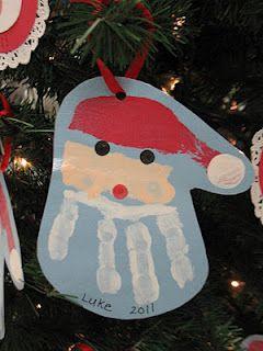 Christmas handprint - your adult children will still look for their childhood handprints!
