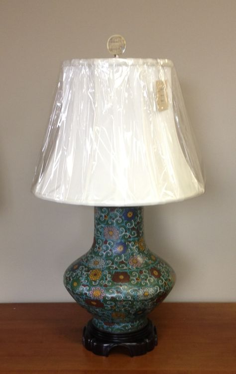 Cloisonné Vase Turned Into A Lamp Lamps That We Have Made