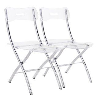 Lot De 2 Chaises Pliantes Widow En Polycarbonate Transparent Chaise Pliante Chaise Pliante Design Console Extensible