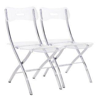 Lot De 2 Chaises Pliantes Widow En Polycarbonate Transparent Chaise Pliante Chaise Pliante Design Console Extensible