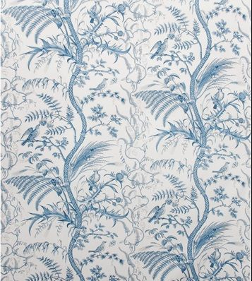 Br 79431 222 Bird And Thistle Cotton Print Blue By Brunschwig Fils Thistle Wallpaper Blue Wallpapers Toile Fabric Bird and thistle wallpaper green