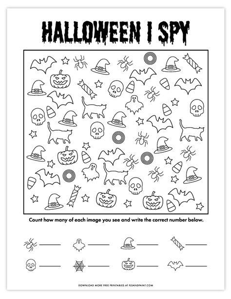 halloween activities Halloween I Spy Game Halloween Worksheets, Halloween Activities For Kids, Halloween Crafts For Kids, Halloween Word Search Printables, Halloween Speech Therapy Activities, Spy Games For Kids, Halloween Puzzles, Printable Games For Kids, Theme Halloween