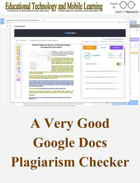 A Very Good Google Doc Plagiarism Checker Tool Classroom Middle School Teaching Technology Word