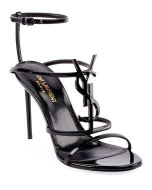 530fc55a1e88 X4CQ6 Saint Laurent Cassandra YSL Monogram Patent Sandals ...