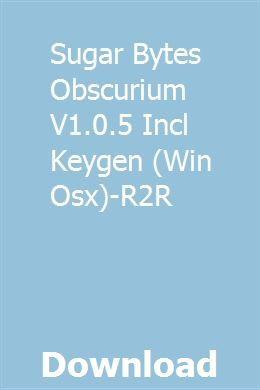Sugar Bytes Obscurium V1 0 5 Incl Keygen (Win Osx)-R2R