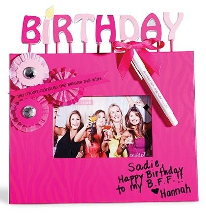 Birthday Autograph Frame: Pink Zebra | Sweet 16 Party Gifts | Sweet ...