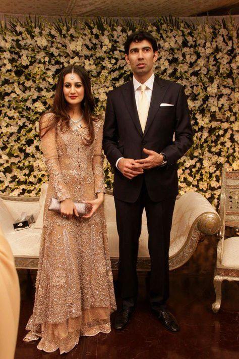 Sana Khan and Ahmed Wahla Dress by Elan