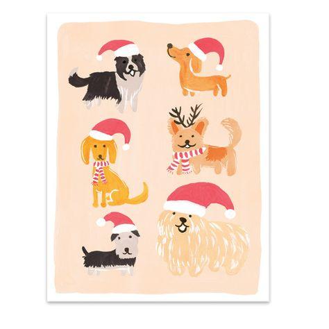 Christmas Dogs Card   ShopPigment