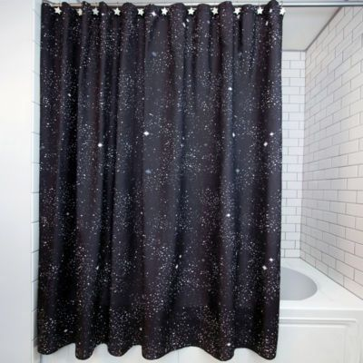 Frank And Lulu Glow In The Dark Astro 13 Pc Shower Curtain Set