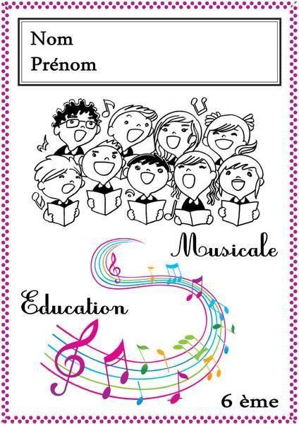 Page De Garde Musique 3eme : garde, musique, CHALLENGE, PERSONNALISATION, DECORATION, D'UNE, GARDE, Cahier, Musique,, Éducation, Musicale,, Pages, Garde, Cahiers