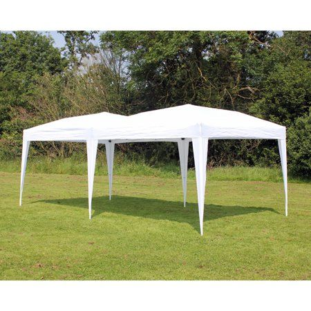 New 10 X 20 Palm Springs White Pop Up Ez Set Up Canopy Gazebo Party Tent Walmart Com Gazebo Outdoor Tent Party Tent