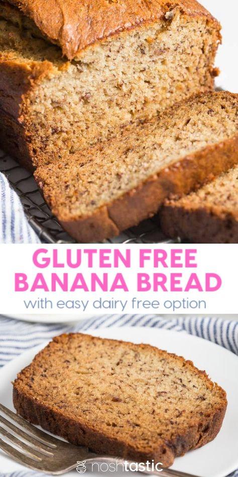 Best Gluten Free Banana Bread Recipe That S So Easy To Make Moist Tastes Fabulous And Has Dairy With Images Gluten Free Banana Bread Best Gluten Free Banana Bread Recipe