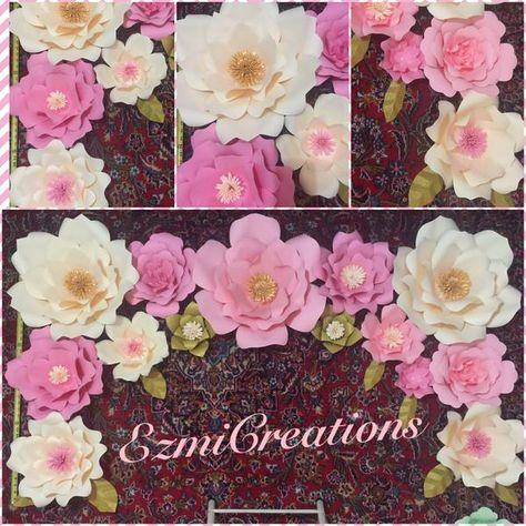 623b1d780 Paper Flower 6x3 DIY backdrop Kit (please read announcement in description)
