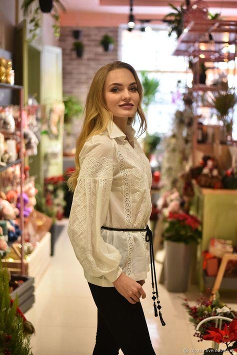 8db6669d2af61c6 Блузка женская с вышивкой Верхоплут. Ручная вышивка от Ольги Стрельцовой.  Интернет-магазин Ярмарка Мастеров. Блузка