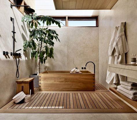 Home Interior Boho @ Former Beach Motel in Malibu Is Reborn as the Japanese-Inspired Nobu Ryokan Japanese Style Bathroom, Japanese Home Decor, Japanese House, Japanese Style Living Room Ideas, Japanese Bedroom Decor, Japan Bedroom, Japanese Inspired Bedroom, Japanese Decoration, Bali Bedroom