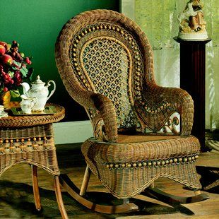 Mistana Jalyn Rocking Chair Wayfair Wicker Rocking Chair Rocking Chair Porch Wicker Chair