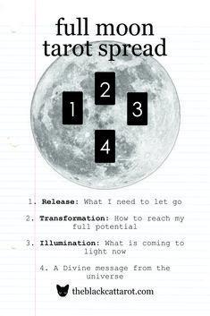 Tap into the full moon's energy with this Tarot Spread! #moon #fullmoon #tarot #tarotspread #astrology #magik #magick #moonmagick