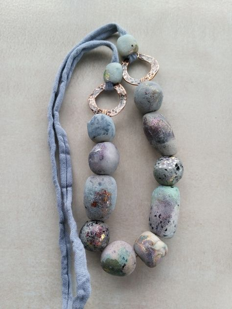 ceramic raw beads  7 components for jewelry making elements handmade ceramic raw beads zolanna beads hand formed