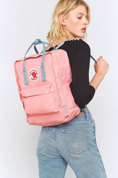 Shop Fjallraven Kanken Pink And Air Blue Backpack at Urban Outfitters today.