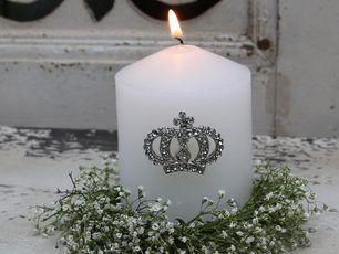 Stecker Krone Fur Kerzen Silber Kerzenstecker Strass Chic